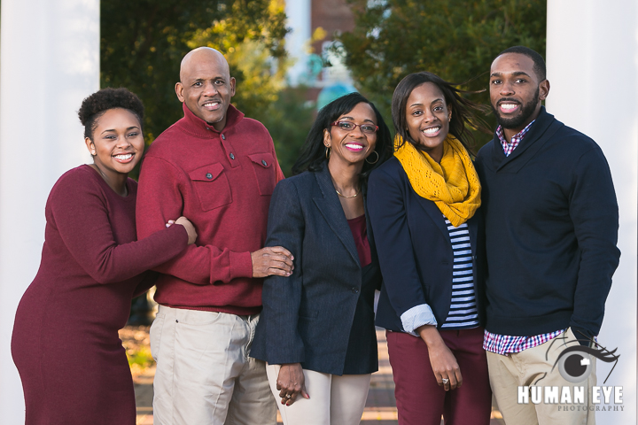 Family Portraits in Rockhill, SC at Winthrop University