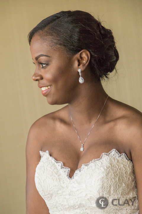 Capital City Club Downtown bridal portrait